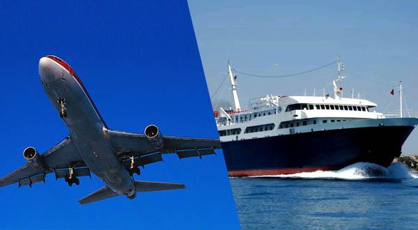 Flughafen Athens und Hafen von Attika